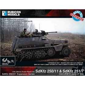 Rubicon Models 1:56 Zestaw dodatków Sd.Kfz.250/251 EXPANSION SET - SdKfz 250/11 & 251/7 sPzB 41 AT Rifle