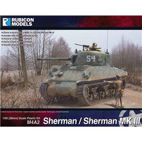 Rubicon Models 1:56 M4A2 Sherman / Sherman III - US MEDIUM TANK