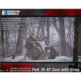 Rubicon Models 1:56 PaK 36 AT Gun with Crew