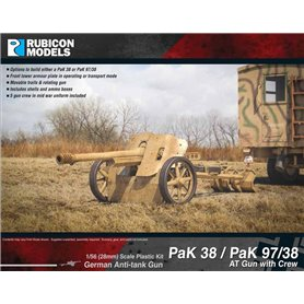 Rubicon Models 1:56 PaK.38 / PaK.97/38 AT GUN WITH CREW - GERMAN ANTI-TANK GUN
