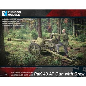 Rubicon Models 1:56 PaK.40 AT GUN WITH CREW - GERMAN ANTI-TANK GUN
