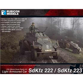 Rubicon Models 1:56 Sd.Kfz.222 / Sd.Kfz.223 - LIGHT ARMOURED CAR