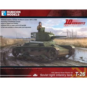 Rubicon Models 1:56 Soviet T-26 Light Infantry Tank