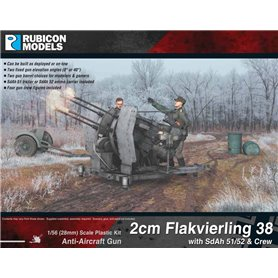 Rubicon Models 1:56 2cm Flakvierling 38 with SdAh 51/52 Trailer & Crew