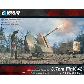 Rubicon Models 1:56 3.7cm Flak43 with SdAh 58 Trailer & Crew