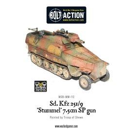 Bolt Action Pojazd pancerny Sd.Kfz.251/9 Ausf.D Stummel - GERMAN HALF-TRACK