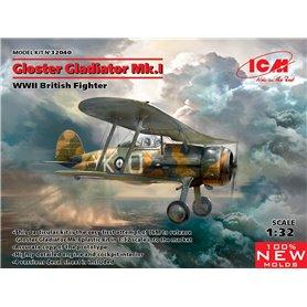 ICM 1:32 Gloster Gladiator Mk.I - WWII BRITISH FIGHTER