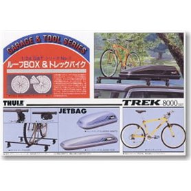 Fujimi 110424 1/24 Garage and Tools Series Roof Rack, Jet Box Trek Mountain Bike
