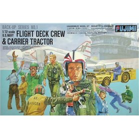 Fujimi 350011 FDC-1 1/72 Flight deck crews & MD-3 tractor (USN)