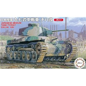 Fujimi 762395 SWA-32 1/76 Middle Tank Type 97 Chi-Ha Kai (Set of 2)