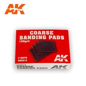 AK Interactive 9016 Gąbki ścierne COARSE SANDING PADS - 120 - 4szt.