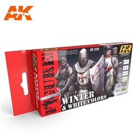 AK Interactive WINTER & WHITE COLORS SET