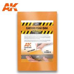 AK Interactive AK-8095 Pianka do rzeźbienia CARVING FOAM - 8mm A4