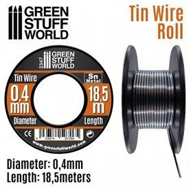 Green Stuff World Elastyczny drucik z cyny FLEXIBLE TIN WIRE - 0.4mm