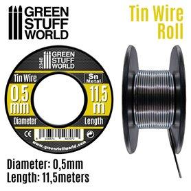 Green Stuff World Elastyczny drucik z cyny FLEXIBLE TIN WIRE - 0.5mm