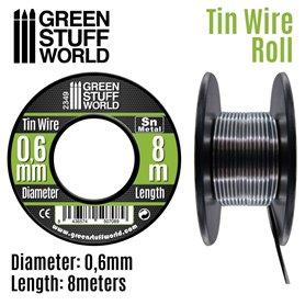 Green Stuff World Elastyczny drucik z cyny FLEXIBLE TIN WIRE - 0.6mm