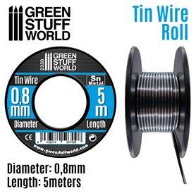 Green Stuff World Elastyczny drucik z cyny FLEXIBLE TIN WIRE - 0.8mm