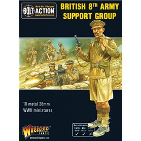 Bolt Action 8TH ARMY SUPPORT GROUP - HQ + MORTAR + MMG