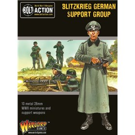 Bolt Action BLITZKRIEG GERMAN SUPPORT GROUP - HQ + MORTAR + MMG