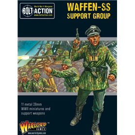 Bolt Action WAFFEN-SS SUPPORT GROUP - HQ + MORTAR + MMG