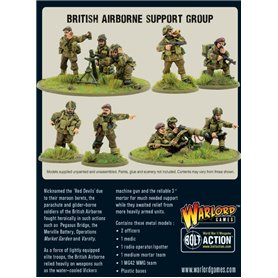 Bolt Action BRITISH AIRBORNE SUPPORT GROUP - HQ + MORTAR + MMG