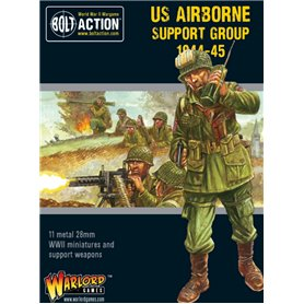 Bolt Action US AIRBORNE SUPPORT GROUP - 1944-1945 - HQ + MORTAR + MMG