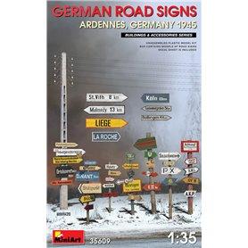 Mini Art 1:35 GERMAN ROAD SIGNS - WWII ARDENNES