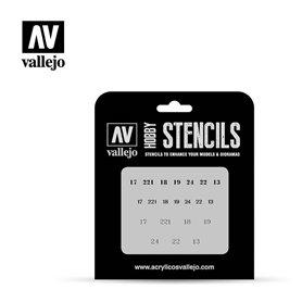 Vallejo ST-AFV003 Soviet Numbers WWII STENCIL