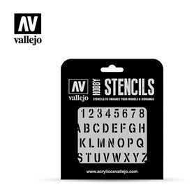 Vallejo ST-LET002 Stamp Font STENCIL