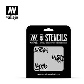 Vallejo ST-LET003 Street Art No1 STENCIL
