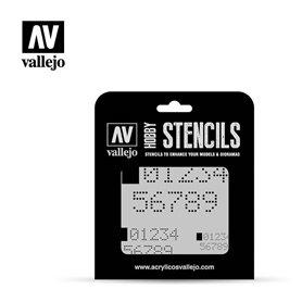 Vallejo ST-SF004 Digital Numbers STENCIL