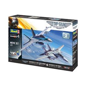 Revell 1:72 TOP GUN MAVERIC Grumman F-14 + F/A-18E - MOVIE SET - z farbami