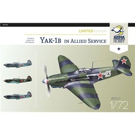 Arma Hobby 1:72 Yakovlev Yak-1b - IN ALLIED SERVICE - LIMITED EDITION