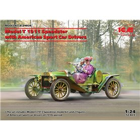 ICM 24026 Model T 1913 Speedster with American Sport Car Drivers