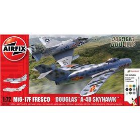 Airfix 1:72 MiG-17F Fresco + Douglas A-4B Skyhawk - DOGFIGHT DOUBLES - z farbami