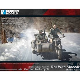 Rubicon Models 1:56 German Motorcycle R75 with Sidecar (ETO)