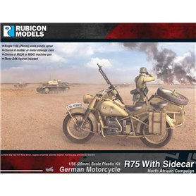 Rubicon Models 1:56 GERMAN MOTORCYCLE R75 WITH SIDECAR (DAK)