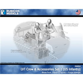 Rubicon Models 1:56 LVT CREW AND ACCESSORIES SET 1 - US INFANTRY