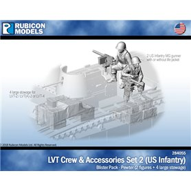 Rubicon Models 1:56 LVT CREW AND ACCESSORIES SET 2 - US INFANTRY