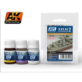 AK Interactive SHIPS WEATHERING SET - NAVAL SERIES - cz.2