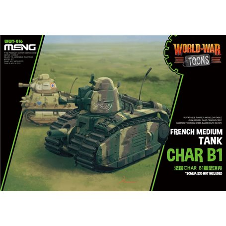 Meng WWT-016 World War Toons Char B1 French Medium Tank