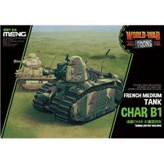 Meng WORLD WAR TOONS Char B1 - FRENCH MEDIUM TANK