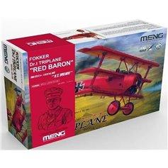 Meng 1:32 Fokker Dr.I Triplane RED BARON + Figurka 1:10 Manfreda von Richthofena