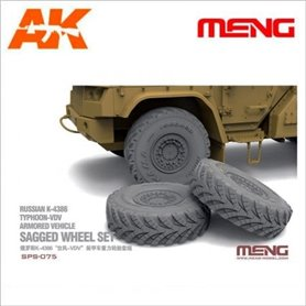 Meng SPS-075 Sagged Wheel Set for Russian K-4386 Typhoon-VDV Armored Vehicle