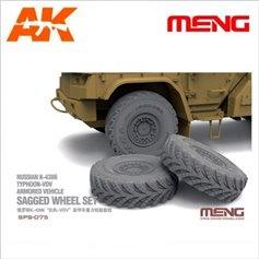 Meng 1:35 Koła SAGGED WHEEL SET FOR RUSSIAN K-4386 TYPHOON-VDV