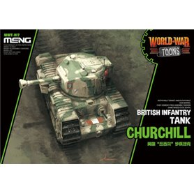 Meng WWT-017 World War Toons Churchill British Infantry Tank