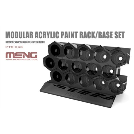 Meng MTS-043 Modular Acrylic Paint Rack/Base (can accommodate 15 bottles of 17ml MC series acrylic paints)
