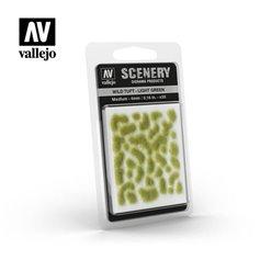 Vallejo SC407 Tufty WILD TUFTS - LIGHT GREEN - MEDIUM - 4mm