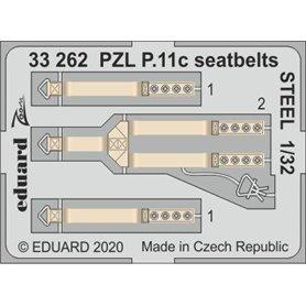 Eduard 1:32 Pasy bezpieczeństwa STEEL do PZL P.11c dla IBG