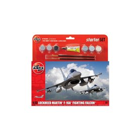 Airfix 1:72 General Dynamics F-16A/B Fighting Falcon - STARTER SET - z farbami